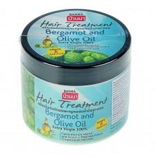 Маска для волос с бергамотом (тайским каффир-лаймом) и оливковым маслом 300 мл