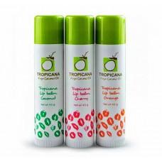 Бальзамы-стики для губ на основе кокосового масла TROPICANA.